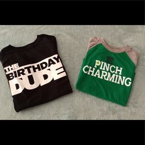 Set of 2 Boys 5T T-shirts for special days